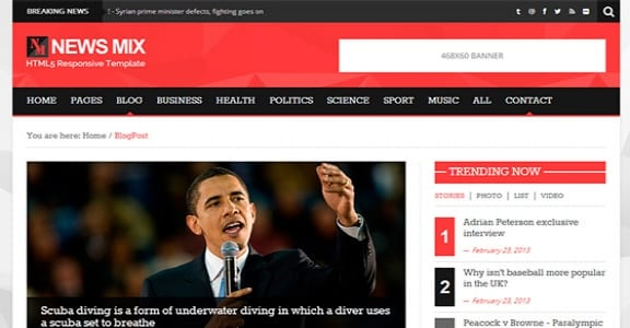 Шаблон Wordpress - News Mix Lite