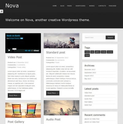 Шаблон WordPress - Nova