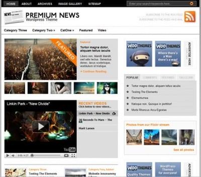 Шаблон WordPress - Original Premium News