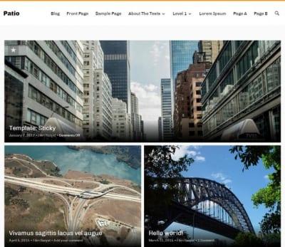 Шаблон WordPress - Patio