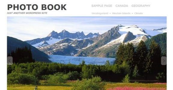 Шаблон Wordpress - Photo book