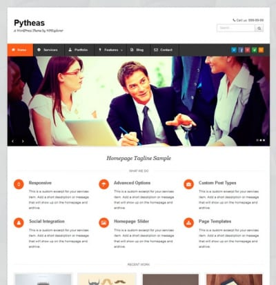 Шаблон WordPress - Pytheas