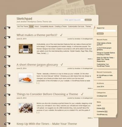 Шаблон WordPress - Sketchpad