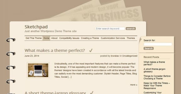 Шаблон Wordpress - Sketchpad
