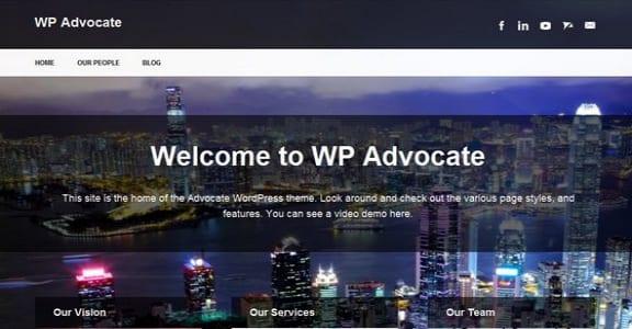 Шаблон Wordpress - The Advocate