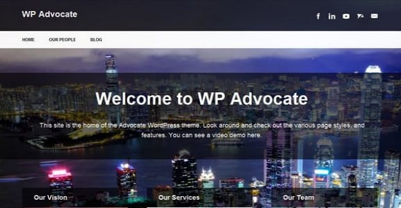 Шаблон Wordpress - The Advocate