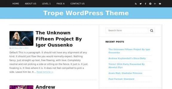 Шаблон Wordpress - Trope