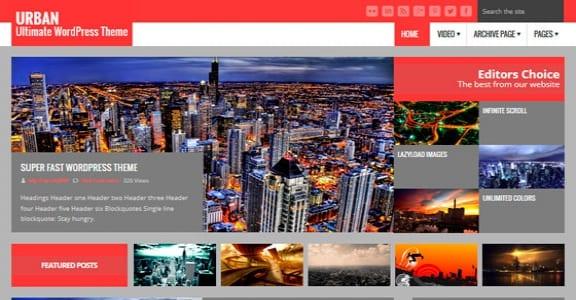 Шаблон Wordpress - Urban Lite