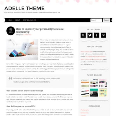 Шаблон WordPress - Adelle
