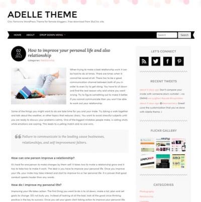 Шаблон WordPress - Adelle