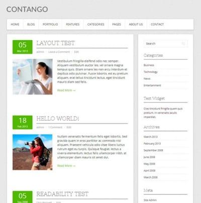 Шаблон WordPress - Contango