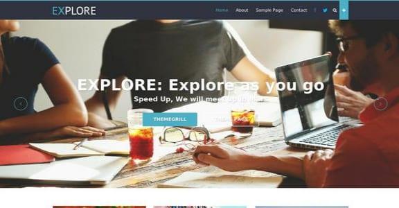 Шаблон Wordpress - Explore