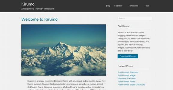 Шаблон Wordpress - Kirumo