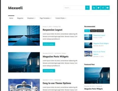Шаблон WordPress - Maxwell