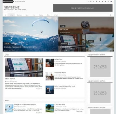 Шаблон WordPress - Newszine