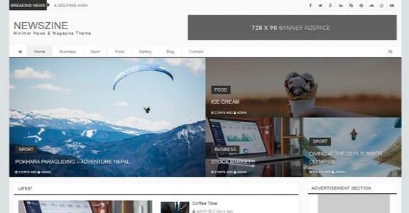Шаблон Wordpress - Newszine