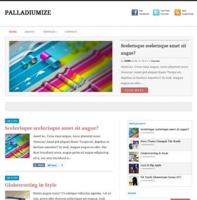Шаблон WordPress - Palladiumize