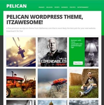 Шаблон WordPress - Pelican