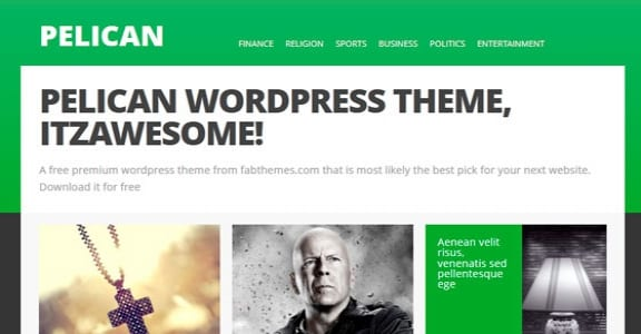Шаблон Wordpress - Pelican