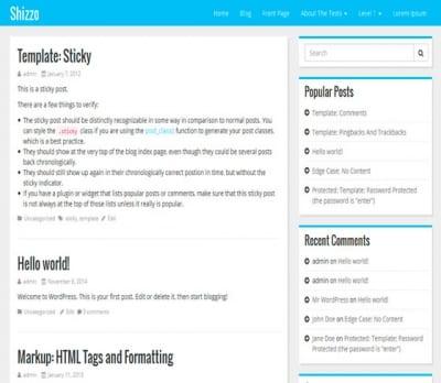 Шаблон WordPress - Shizzo