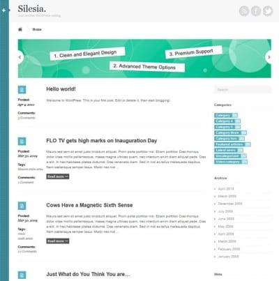 Шаблон WordPress - Silesia