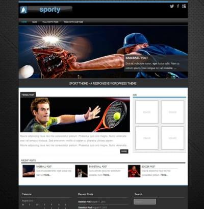 Шаблон WordPress - Sporty