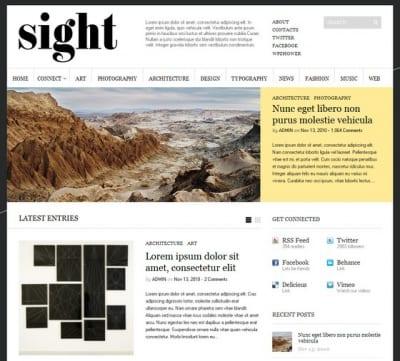 Шаблон WordPress - Супер-тема Sight