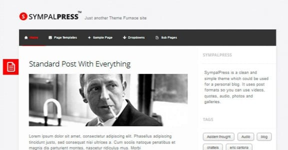 Шаблон Wordpress - SympalPress-Lite