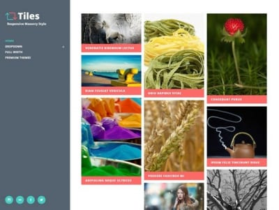 Шаблон WordPress - Tiles
