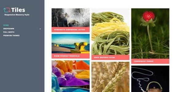 Шаблон Wordpress - Tiles