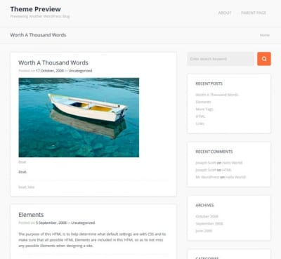 Шаблон WordPress - Travel Planet
