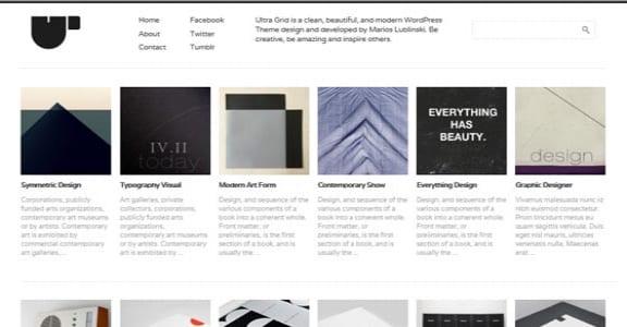 Шаблон Wordpress - Ultra Grid