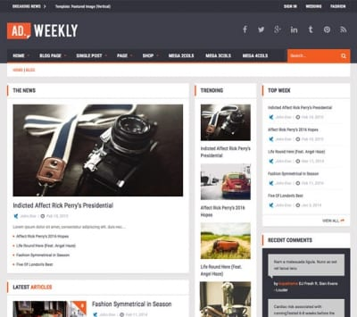Шаблон WordPress - Ad Mag-Lite