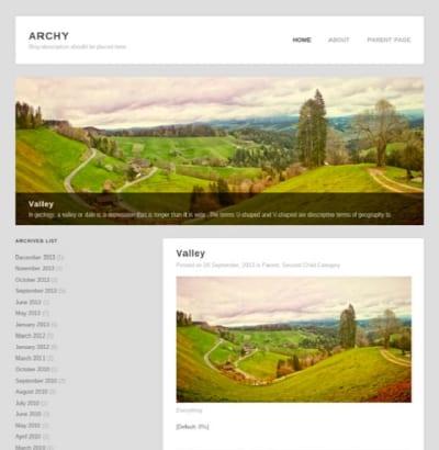 Шаблон WordPress - Archy