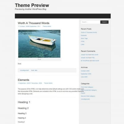 Шаблон WordPress - Morphic