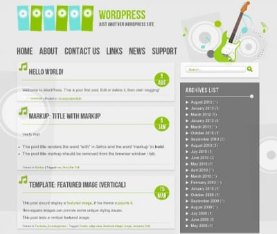 Шаблон WordPress - Music