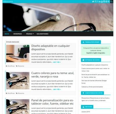 Шаблон WordPress - Ribosome