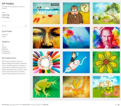 Шаблон WordPress - WP Portfolio