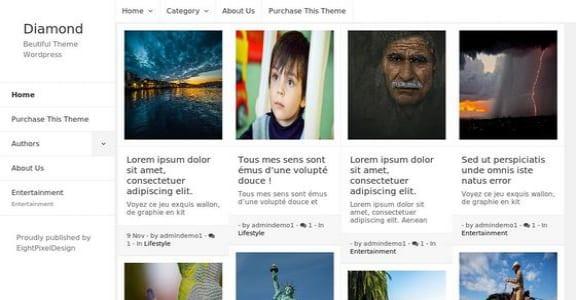 Шаблон Wordpress - Diamond
