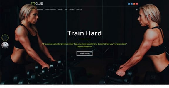 Шаблон Wordpress - FitClub