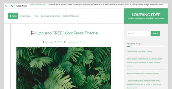 Шаблон Wordpress - Lontano