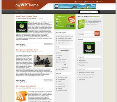 Шаблон WordPress - MyWPTheme