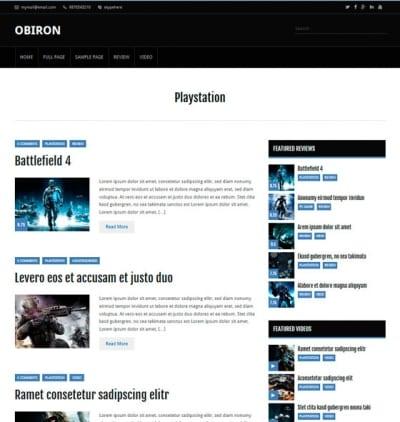 Шаблон WordPress - Obiron