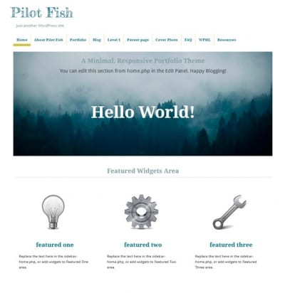 Шаблон WordPress - Pilot Fish