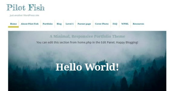 Шаблон Wordpress - Pilot Fish