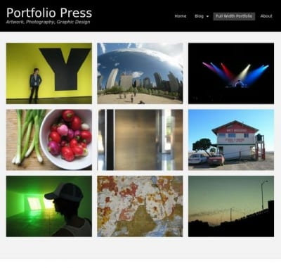 Шаблон WordPress - Portfolio Press