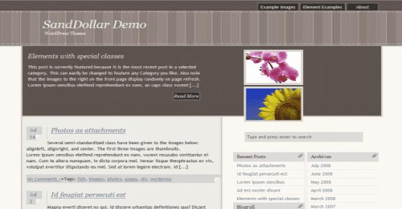 Шаблон Wordpress - SandDollar