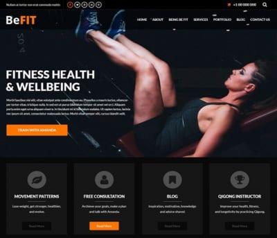 Шаблон WordPress - SKT BeFit
