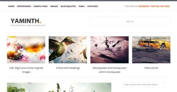 Шаблон Wordpress - YAMINTH