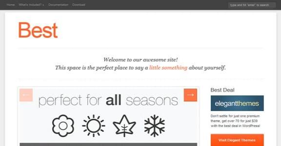 Шаблон Wordpress - Best